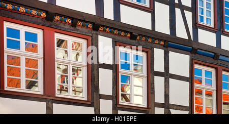 half-timbered house in the old city, detail, Germany, North Rhine-Westphalia, Soest - Stock Photo