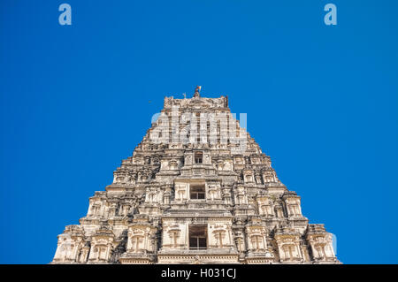 HAMPI, INDIA - 28 JANUARY 2015: Virupaksha Temple is located in Hampi in southern India. It is part of the Group - Stock Photo