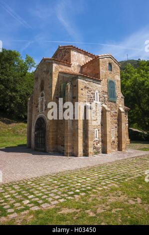 San Miguel de Lillo, pre-romanesque church, century IX - Stock Photo