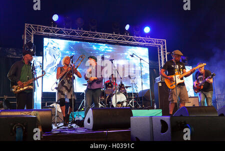 The Mighty Comics performing on the iD Mobile Stage at the OnBlackheath Music Festival 2016 - Stock Photo