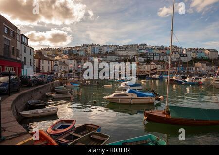 Brixham harbour, Devon, England - Stock Photo