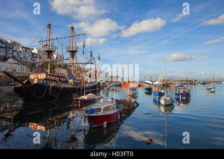 Brixham harbour, Devon, England - Stock Photo