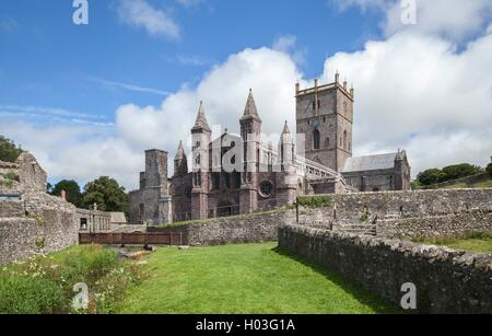St David's Cathedral, Pembrokeshire, Wales, Great Britain - Stock Photo
