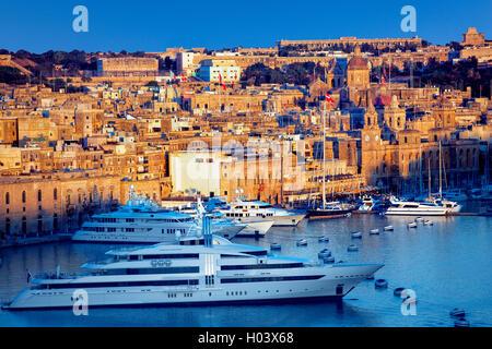 Vittoriosa harbour  in Valletta, Malta - Stock Photo