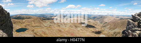 Panoramic view in Picos de Urbión. Source of Duero. Soria, Spain - Stock Photo