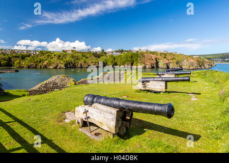Fishguard Fort, Pembrokeshire Coast National Park, Pembrokeshire, Wales, United Kingdom, Europe. - Stock Photo