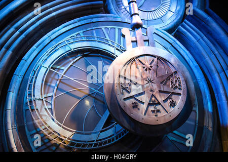 Hogwarts Clock Tower, Warner Bros Studio Tour, London, UK - Stock Photo