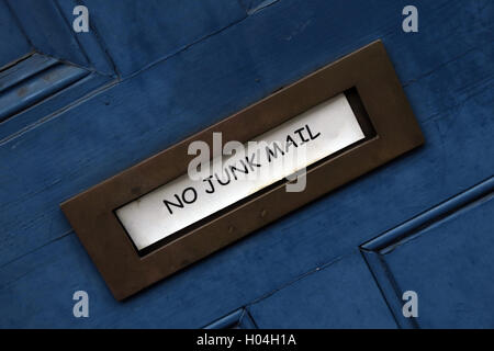 No Direct Junk Mail Please, in my letterbox - Stock Photo