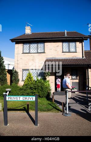 Privet Drive, Harry Potter's House,Warner Brothers Studio Tour, The Making of Harry Potter, London - Stock Photo