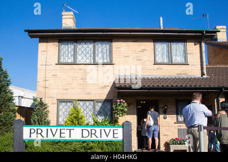Privet Drive, Harry Potter's House,Warner Brothers Studio Tour, The Making of Harry Potter, London - Stock Photo