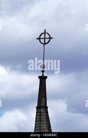 Cross on top of church - Stock Photo
