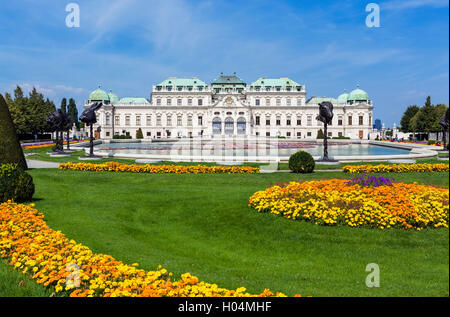 The Oberes Belvedere, summer palace of Prince Eugene of Savoy, Vienna, Austria - Stock Photo