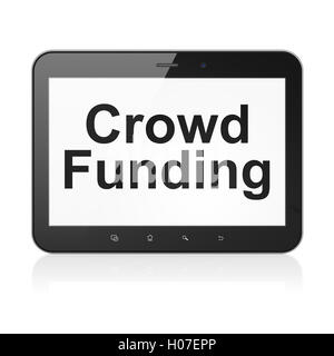 Business concept: Crowd Funding on tablet pc computer - Stock Photo
