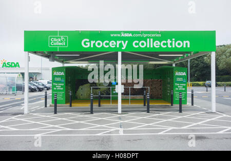 asda supermarket 39 click and collect 39 grocery point mansfield uk stock photo 74433291 alamy. Black Bedroom Furniture Sets. Home Design Ideas