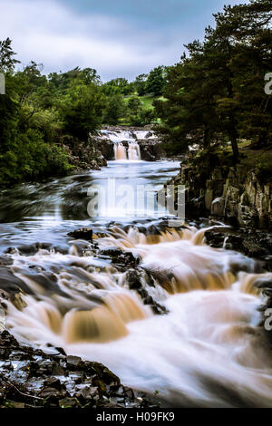 Low Force waterfall, Teesdale, England, United Kingdom, Europe - Stock Photo