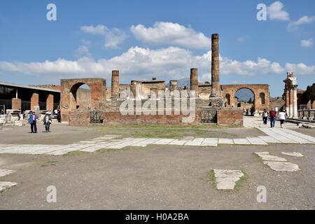 Forum, ancient city of Pompeii, Campania, Italy - Stock Photo