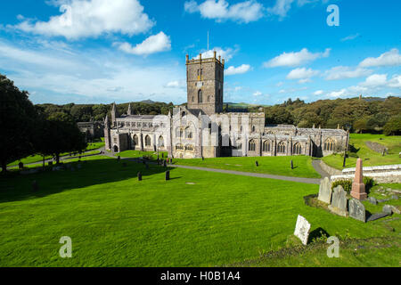 St Davids Cathedral, Pembrokeshire,Wales - Stock Photo