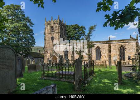 The Parish church of St Edmund Castleton Derbyshire. North West England. - Stock Photo