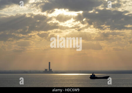 impression from the suez canal - Stock Photo