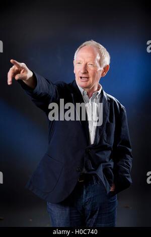 Alan Taylor, the Scottish journalist and author, at the Edinburgh International Book Festival. Edinburgh, Scotland. - Stock Photo