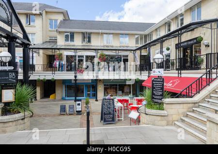 The Courtyard shopping arcade in Montpelier Street, Cheltenham - Stock Photo