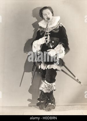 Woman dressed in 16th century drag - Stock Photo