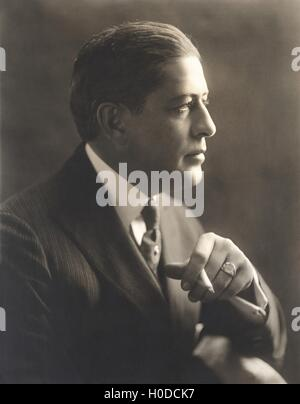 Portrait of a man with cigarette - Stock Photo