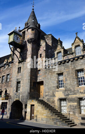 Canongate Tolbooth on the Royal Mile, Edinburgh, Scotland - Stock Photo