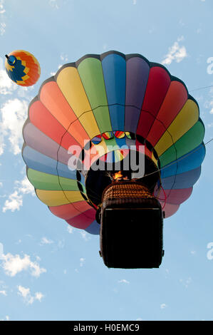 Hot air balloons above Ann Morrison Park in the 'Spirit of Boise Balloon Classic' in September 2016 - Stock Photo