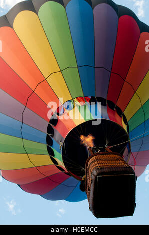 Hot air balloon launching in Ann Morrison Park in the 'Spirit of Boise Balloon Classic' in September 2016