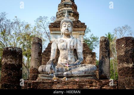 Buddha statue in Sukhothai historical park Stock Photo ...