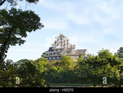 Okayama Castle located in Okayama, Japan - Stock Photo
