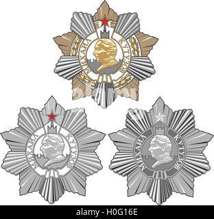 Soviet Military Order of Kutuzov. Set of three classes. Vector illustration. - Stock Photo