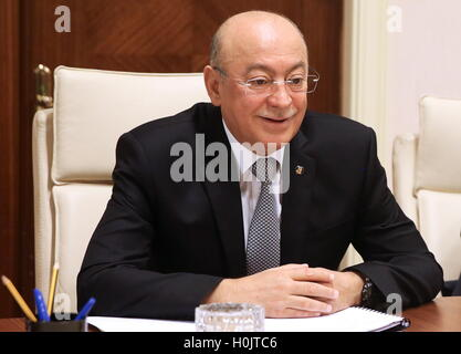 Baku, Azerbaijan. 20th Sep, 2016. Azerbaijan's Emergency Situations Minister Kamaladdin Heydarov pictured during - Stock Photo