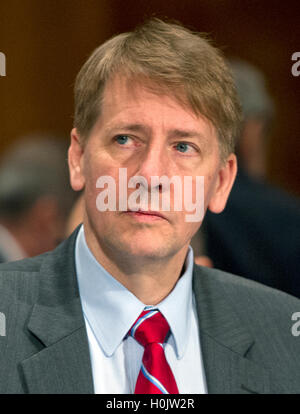 Washington, Us. 20th Sep, 2016. Richard Cordray, Director, Consumer Financial Protection Bureau, testifies before - Stock Photo