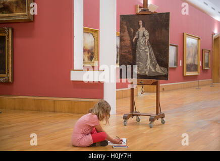 Tate Britain, London, UK. 21st September, 2016. Tate's latest acquisition, Portrait of an Unknown Lady 1650-5 by - Stock Photo