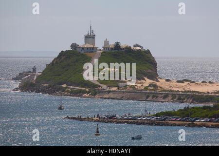 Nobbys Head Lighthouse Newcastle New South Wales Australia - Stock Photo