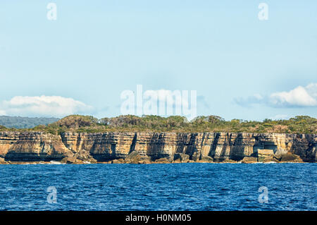 Scenic view of cliffs at Jervis Bay, New South Wales, NSW, Australia - Stock Photo
