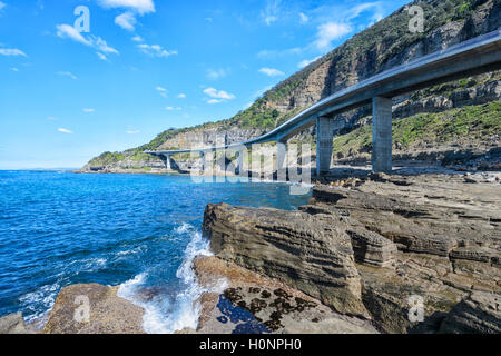 Sea Cliff Bridge, Grand Pacific Drive, Coalcliff, Illawarra Region, New South Wales, NSW, Australia - Stock Photo