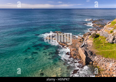 View of the coastline along the Grand Pacific Drive, Coalcliff, Illawarra Region, New South Wales, NSW, Australia - Stock Photo