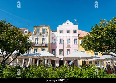 Colourful houses, Belém, Lisbon, Portugal