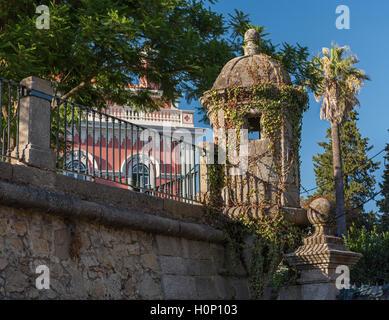 City wall watch tower Evora Alentejo Portugal - Stock Photo