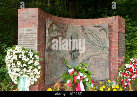 Deutschland, Nordrhein-Westfalen, Wuppertal-Kemna, Mahnmal für das Konzentrationslager Kemna - Stock Photo