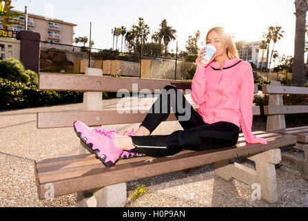 Resting Runner - Stock Photo
