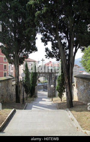 Mallona Gate and Stairs in Bilbao Biscay Basque Country Spain - Stock Photo