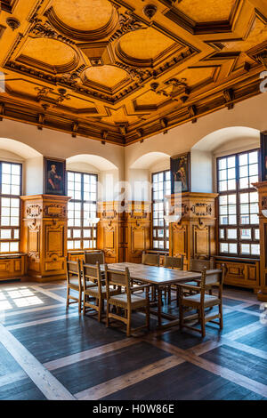 Augsburg, Germany - September 08, 2016: Famous Golden Hall in the historic town hall Augsburg, Germany with its - Stock Photo