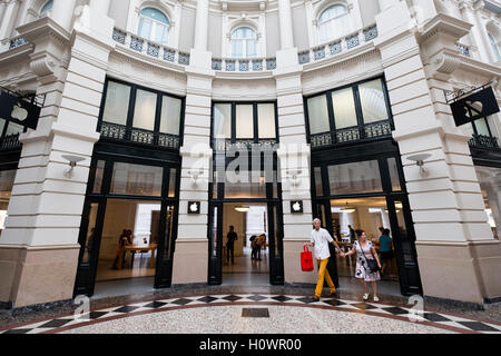 Apple Store within Passage shopping arcade in The Hague, Netherlands - Stock Photo