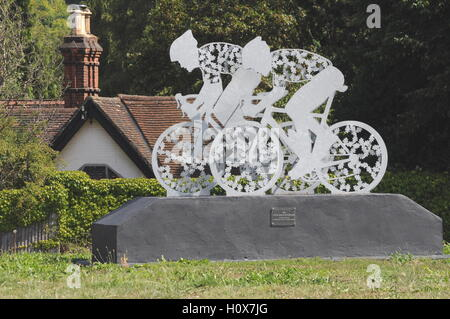 '2012 Cycle Race Structure' near Denbies, London road ( A24), Dorking, Surrey - Stock Photo