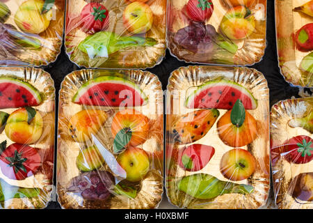 Frutta martorana, marzipan sweets from Sicily, Italy - Stock Photo