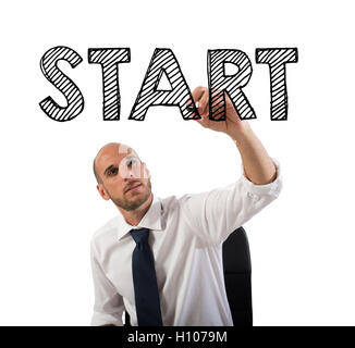 Start a business sucessful career - Stock Photo